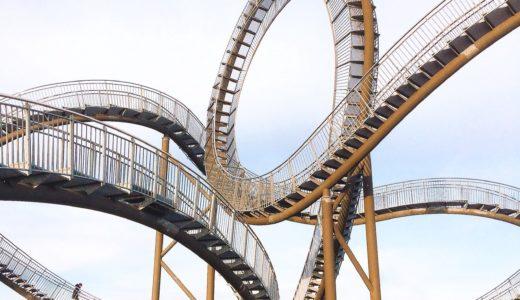 タイガー&タートル|デュイスブルクにあるジェットコースターの上を歩ける?階段