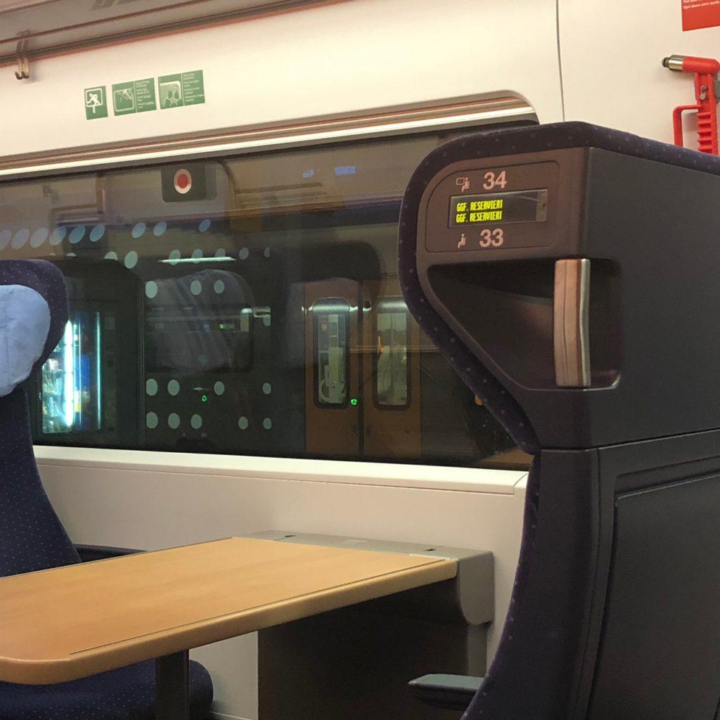 ドイツ鉄道ICE4車内