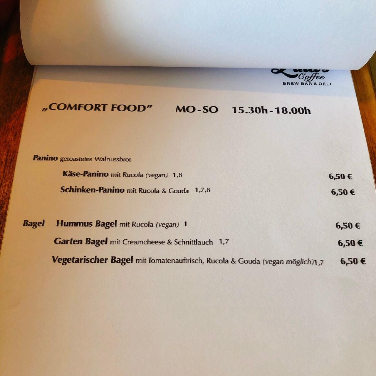linas-coffee デュッセルドルフ メニュー