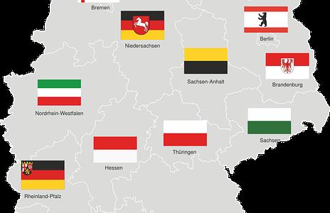【ドイツ16の連邦州】州名とその略称・州都名一覧